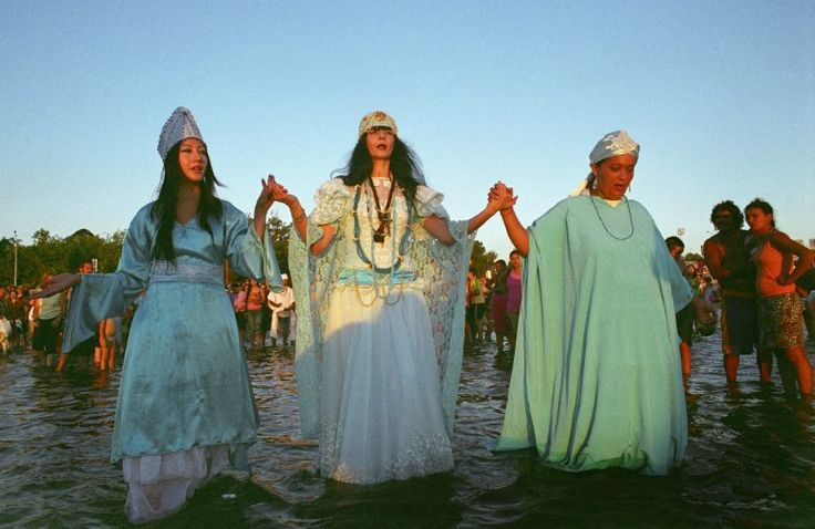 Celebrations for Iemanje, the African goddess of the sea in Montevideo, Uruguay