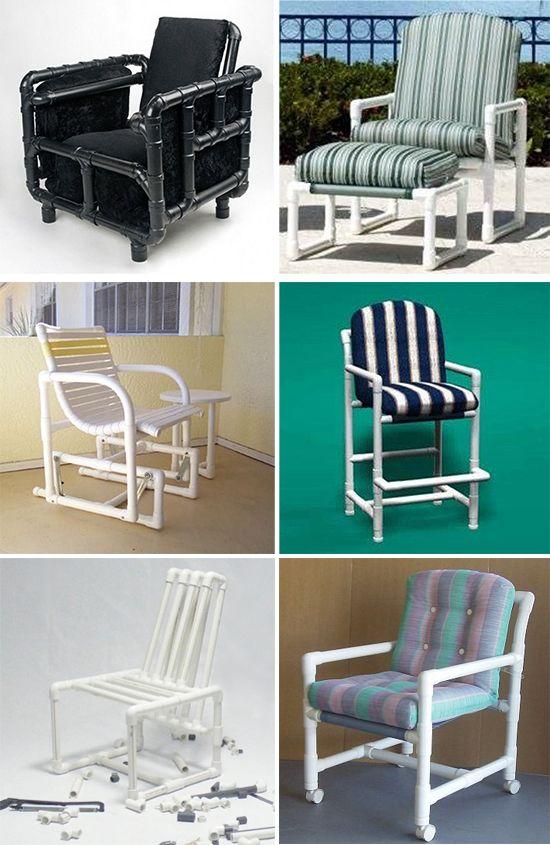 Удобные кресла из трубок пвх