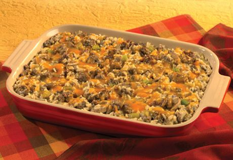 Come in from the cold and enjoy this flavorful sausage, vegetable and rice casserole that's easy to put together and even better to eat!