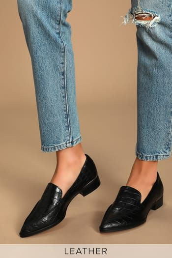 Shoes for Women at Great Prices | Shop Women's Shoes at Lulus | Leather loafers women, Leather loafers, Loafers for women