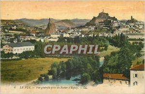 a tarjeta postal puy de la vendimia vision de conjunto tomado de la roca de espal