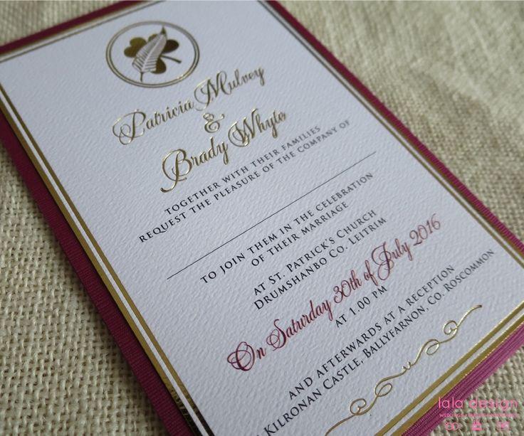 Patricia & Brady Gold Foil Invite