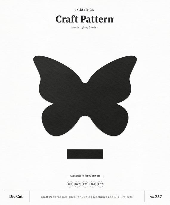 pinched butterfly bow template