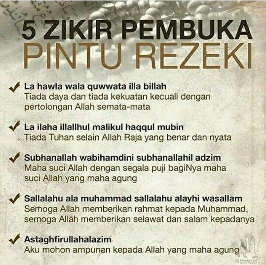 5 pembuka pintu rezeki .. Bismillah setiap saat .. aamiin #Islam
