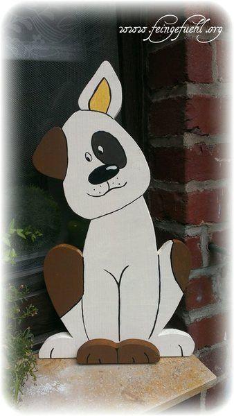 """Hund """"Fritz"""" aus Holz von Feingefühl. Personalisierte Geschenke und mehr aus Holz  auf DaWanda.com"""