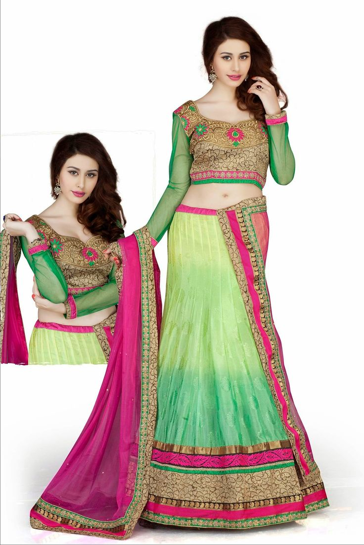 Contemporary Aloe Vera Green & Mint Green Jacquard|Silk Party Wear Lehnga Choli http://www.designersareesuite.com/catalog/product/view/id/20729/s/contemporary-aloe-vera-green-mint-green-jacquard-silk-party-wear-lehnga-choli/category/54/#