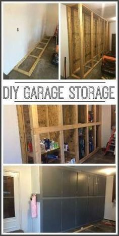 how to make your own diy garage storage cabinets shelves - - Sugar Bee Crafts