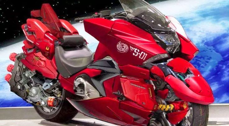 HONDA NM4 Vultus X Char Aznable Motocycle (Photoshop Image)