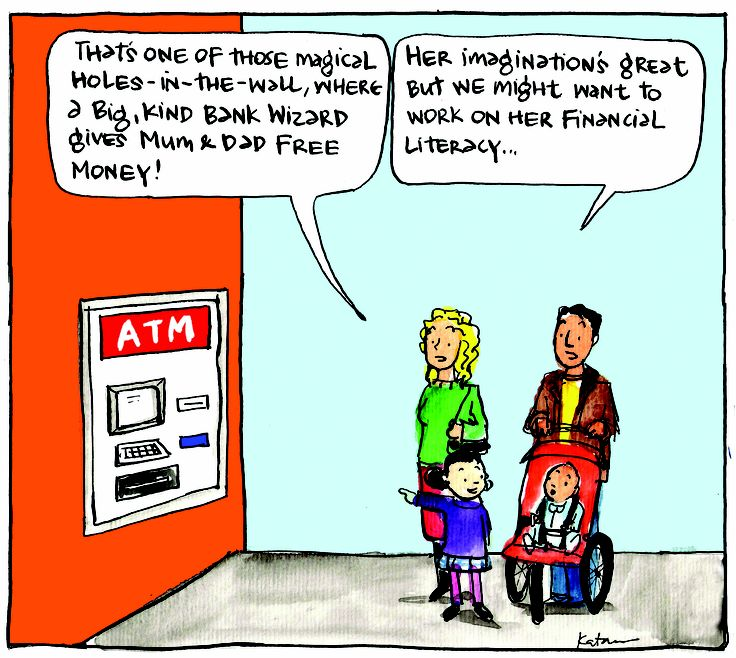 Money is a more complicated concept than it was 30 years ago. Cartoon: Fiona Katauskas