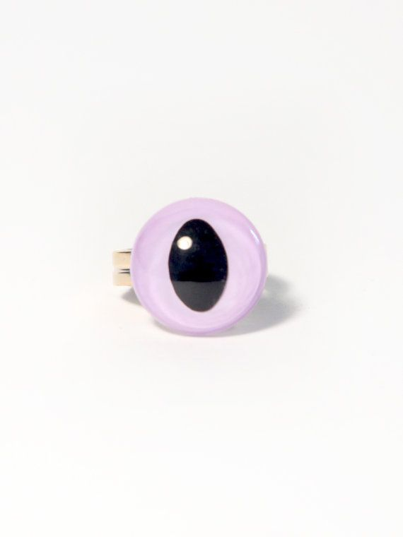 Purple Cat Eye Ring by PrettySnake on Etsy, $6.00