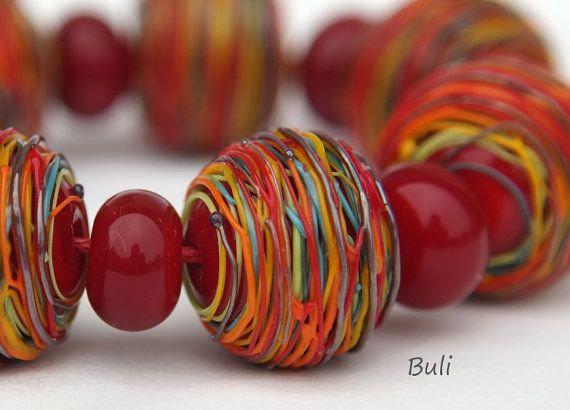 handmade lampwork glass beads sets by on etsy