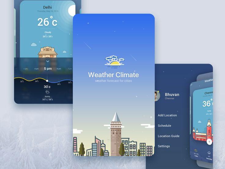 Weather Splash and Menu Concept by Bhuvan UI