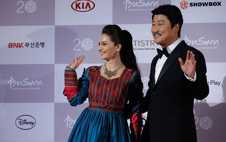 Marina Golbahari and Song Kang-ho