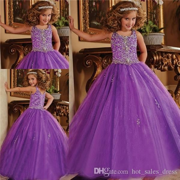 2016 Glitz Pageant Dresses For Little Girls Crystal Organza Lace Up Toddler Pageant Dresses Flower Girls Purple Ball Gown Kids Formal Wear Flower Girl Pageant Dresses Girls Beauty Pageant Dresses From Hot_sales_dress, $72.62| Dhgate.Com