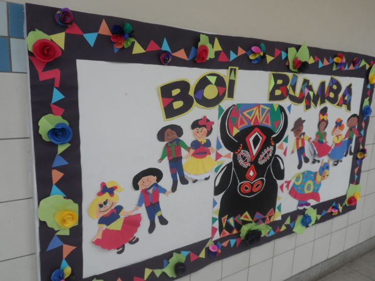 Painel Boi Bumbá - Escola Experimental - Ana Dias