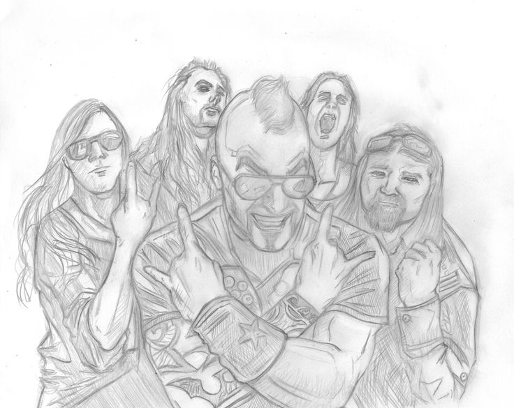 Sabaton Band 2012 fanart by me