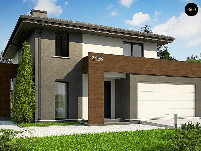 Общая площадь 146,2 м²  Если вам нравятся дома в европейском стиле, проект дома Z156A minus должен привлечь ваше внимание.