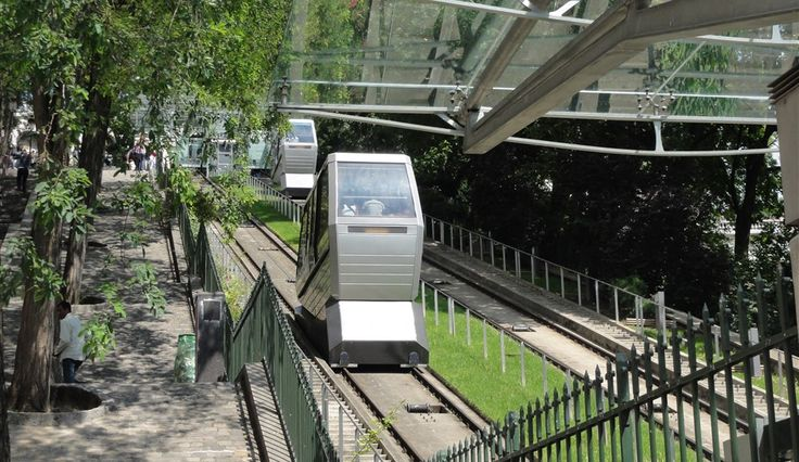 Montmartre funicular, Paris. The funicular provides access to the Basilica of the Sacre-Coeur.