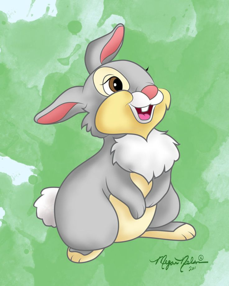 """Day 11 favorite animal sidekick -30 day disney challenge- THUMPER!! From Bambi. I love this little guy. He's so sweet and love able. """"They call me THUMPER!"""""""