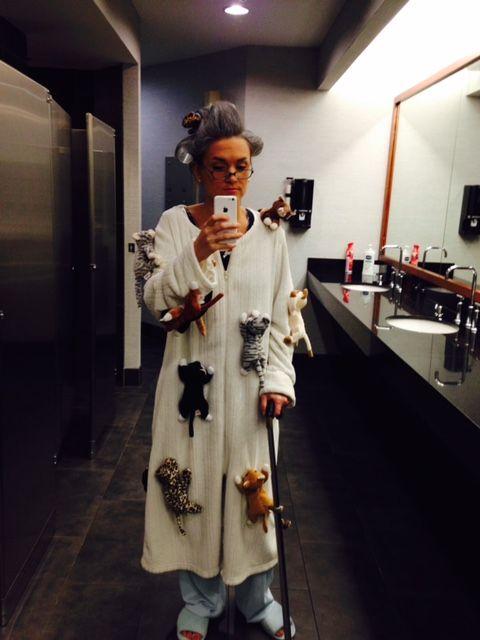 "My infamous "" Crazy Cat Lady"" Halloween Costume."