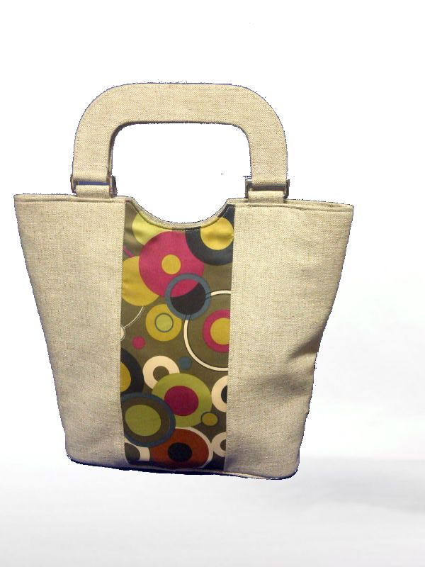 UCO Fancy Bag- LE444Code: Material:JUCO Fabric:50:50 Usages:Fashion Accessory Handle:Self
