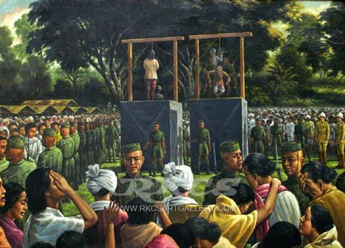 """13 August, 1891 in the History of Manipur  On 13 August, 1891 Tikendrajit Singh and Thangal General were hanged at Imphal Market at 5 p.m. Some weeks earlier, three men - Niranjan Subedar, Kajao SIngh ( Killer of Grimwood) and Charang Thangal ( Chirai) were hanged on various charges. The Anglo-Manipur war had ended.  Sir James Johnstone - """" Let us beware, we have not heard the last of Manipur"""""""