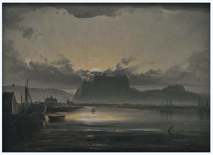 View of Fredrikshald, 1847