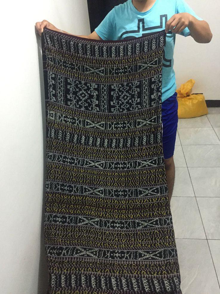 Indonesian Ikat / Vintage Saroong  Flores Maumere Line Motif
