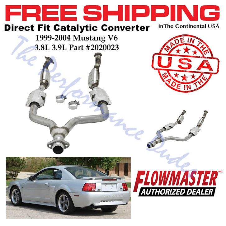 Flowmaster 99 04 Ford Mustang 3 8l 3 9l Direct Fit Catalytic Converter 2020023 Performance Parts Mustang Performance