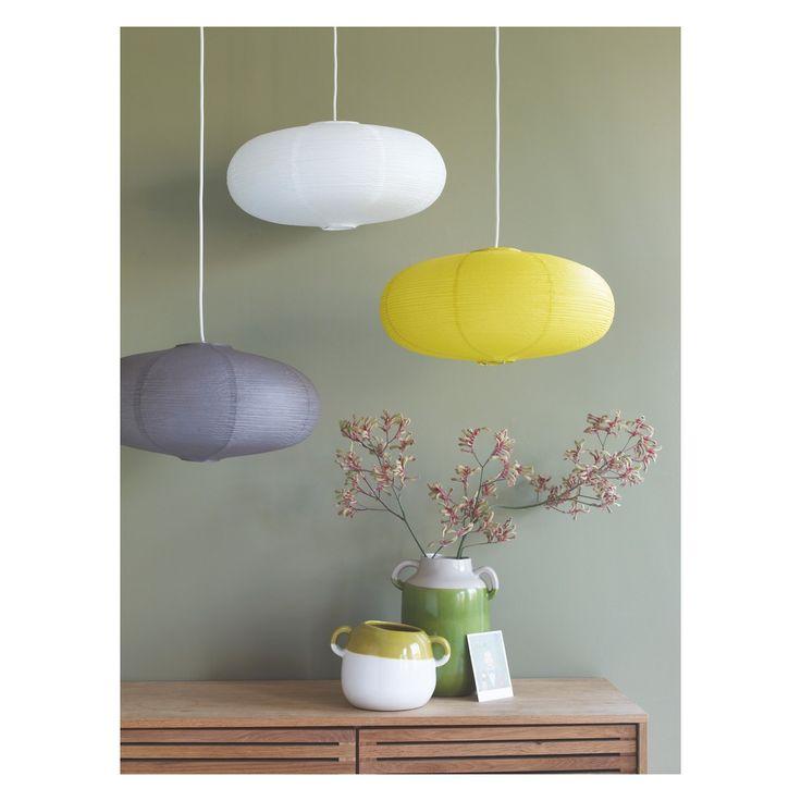 SHIRO Yellow paper ceiling light shade