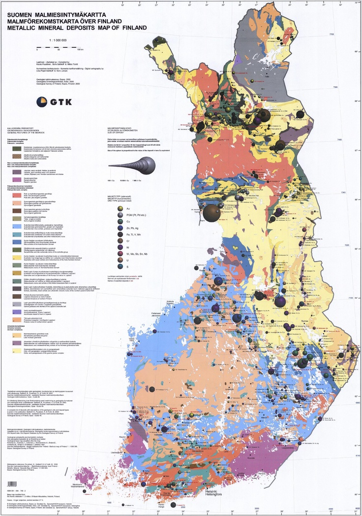 Geological Map of Finland
