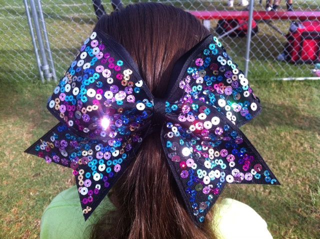 Gemstonez Cheer Bows. $10.00, via Etsy. This is what we need!