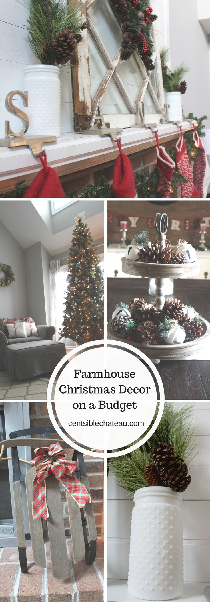 Farmhouse Christmas| Christmas Decor| Cheap Christmas Ideas| Christmas Decorations| Fixer Upper Style