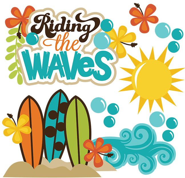 Riding The Waves SVG Beach Svg Files Ocean File Surfboard Surfing Scrapbooking