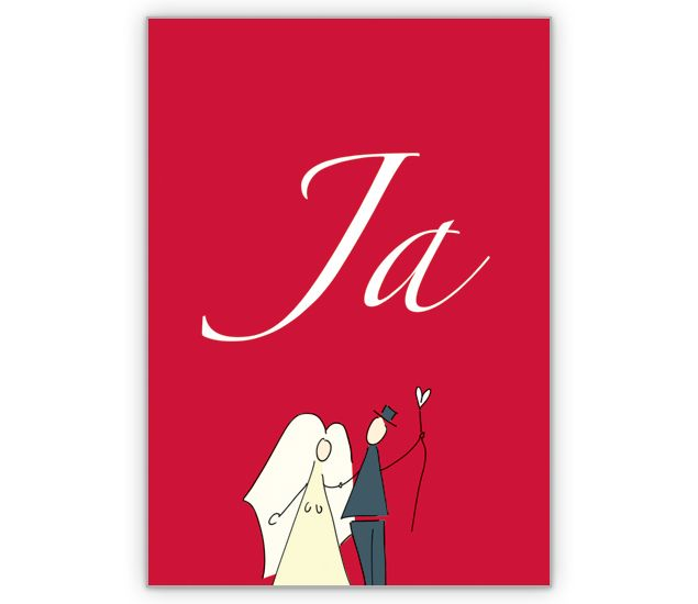"""Das große Hochzeits """"Ja"""" als Anzeige oder Einladung - http://www.1agrusskarten.de/shop/das-grose-hochzeits-ja-als-anzeige-oder-einladung/    00012_0_1250, Brautpaar, Einladungskarte, Glückwunschkarte, Gratulation, Grußkarte, Helga Bühler, Hochzeit, Klappkarte00012_0_1250, Brautpaar, Einladungskarte, Glückwunschkarte, Gratulation, Grußkarte, Helga Bühler, Hochzeit, Klappkarte"""