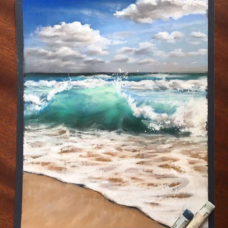 Хочу скорее на море #pastel #pasteldrawing #sea #seascape #visualization #sandpaper #наждачка #пейзаж #морской #море #волны #wave #xaxalerikart #xaxalerikart_sale #пастель #topcreator #одинденьсхудожником