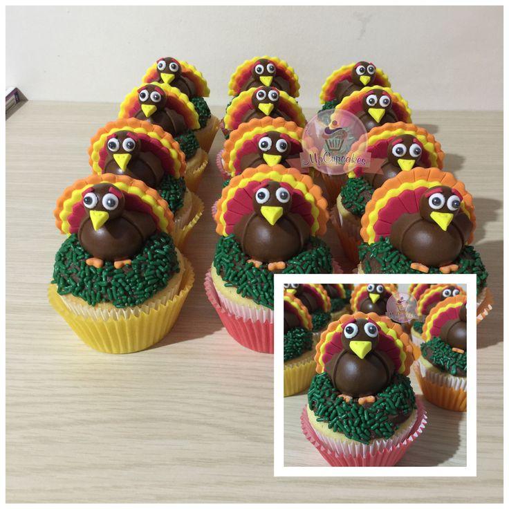 Cupcakes de accion de gracias-thanksgiving