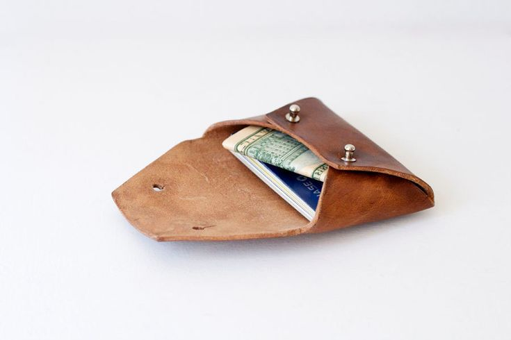 Small Leather Wallet on Etsy