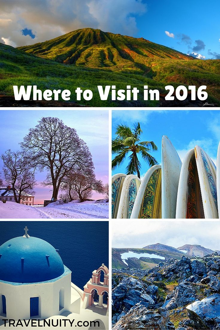 Popular destinations for 2016, according to travel bloggers, plus my current travel plans for 2016