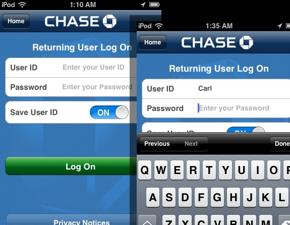 Chase Bank - A must for all Chase Bank customers to check balances, schedule transfer, deposit checks with cam, and more financial stuff without even going to an ATM.. https://itunes.apple.com/us/app/chase-mobile-sm/id298867247?mt=8