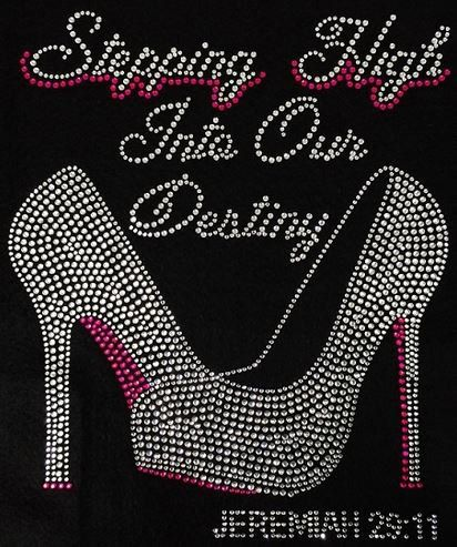 Rhinestone Steppin High T-Shirt - Bling Shirt by DesignsbyDaffy on Etsy