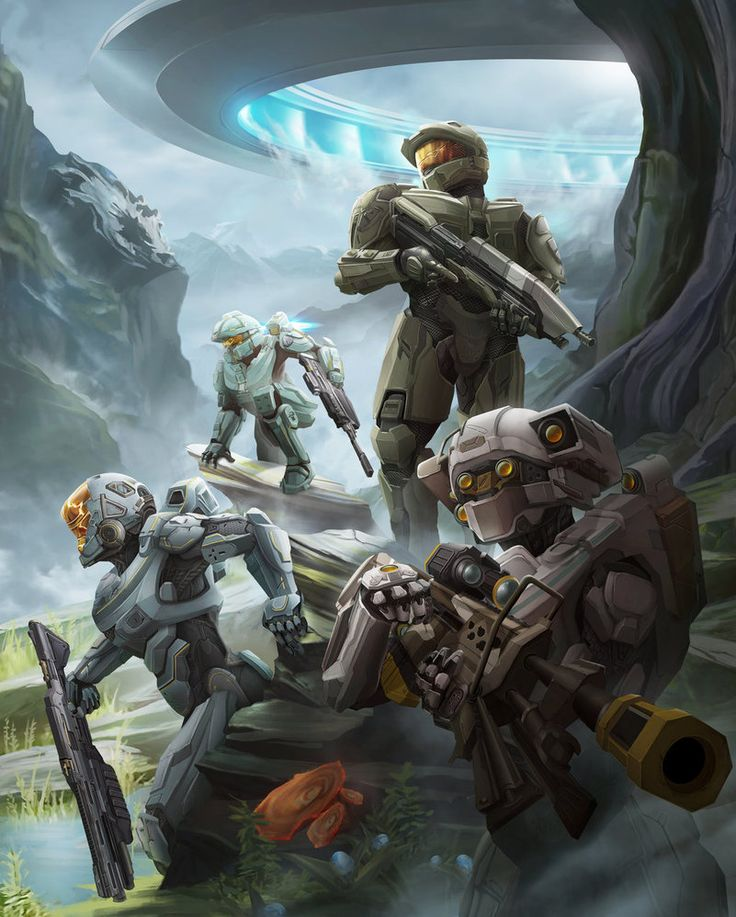 """""""There's a formalness and precision to it all. It seems… artificial, but still organic."""" - Linda With the Master Chief at the helm; blue team navigates the alien terrain of the forerunner pla..."""