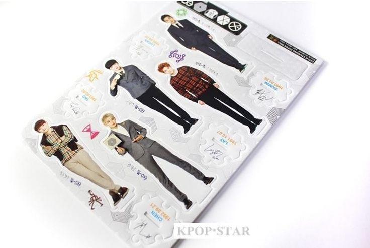 EXO Standing Paper EXO-M EXO-K Korean Pop Star KPOP K POP K-POP Paper Doll M