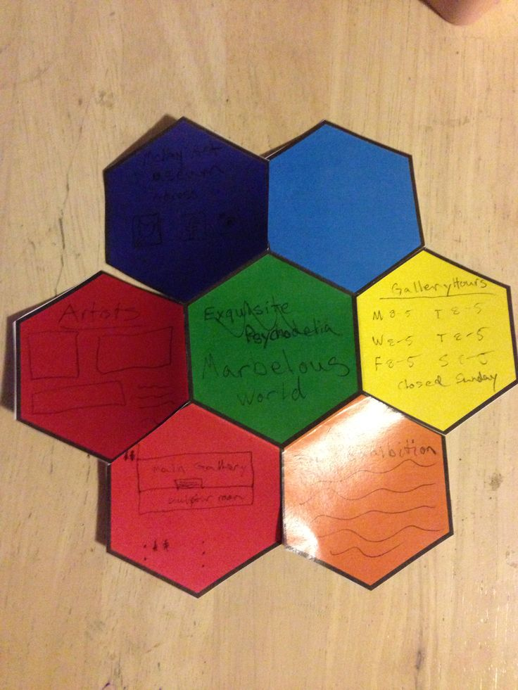 Hexagonal brochure layout