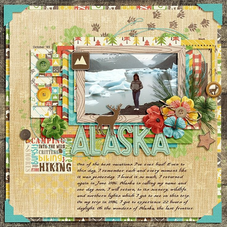 "I Love Alaska - ""Summer Memories"" template by Southern Serenity (Amber Morrison) - ""Outdoor Adventures"" kit by Sheila Reid (Pixel Scrapper)"