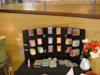 lots of ideas for Scentsy..including displays, samples, and basket party ideas