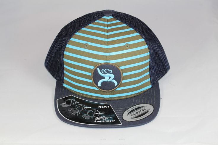 HOOey Hat Mens Truck Cap Stripes Chute Rough One Size Black 4319T-NVTQ