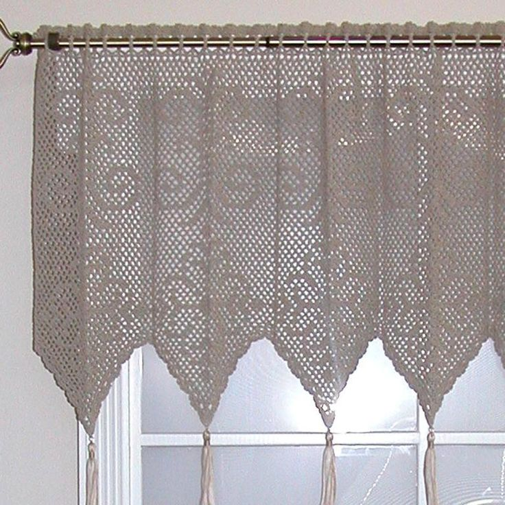 (4) Name: 'Crocheting : Diamond Medallion Valance (T10-008)