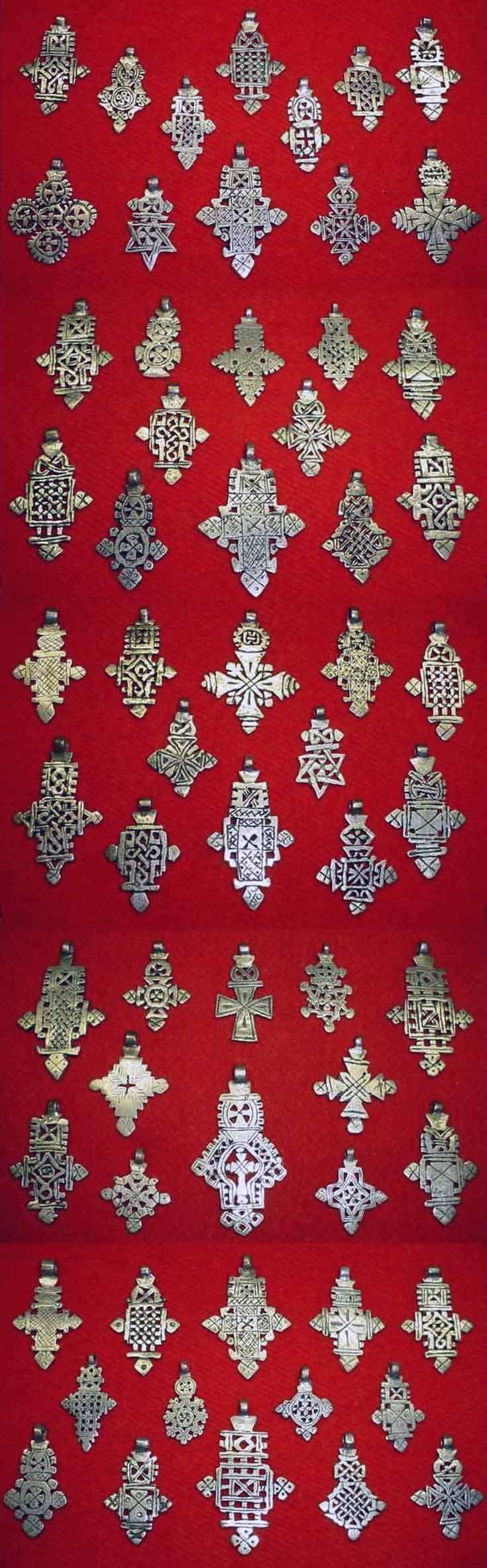 Ethiopia   Old 'trade-silver' Coptic crosses