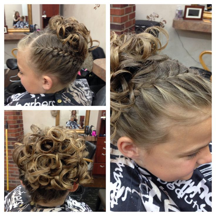 Daddy daughter dance or first communion hair style by Heather West @ Euphoria Salon and Spa